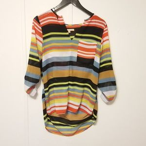 Gibson Latimer size small striped blouse